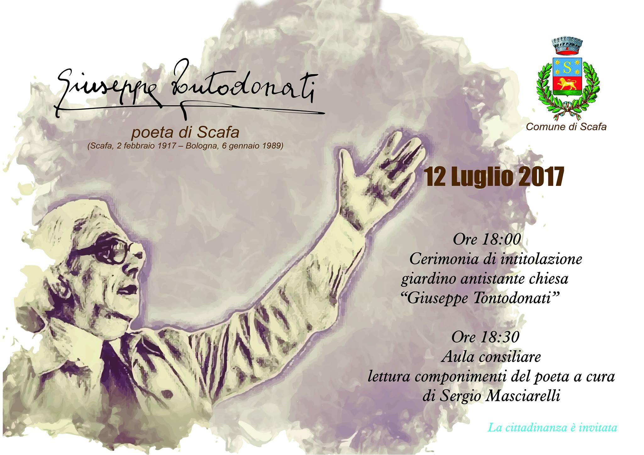Ricorrenza del centenario della nascita del poeta Giuseppe Tontodonati