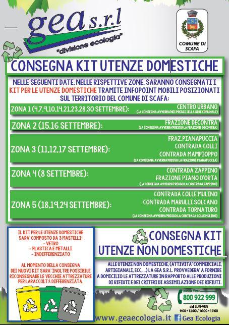 Consegna KIT utenze domestiche