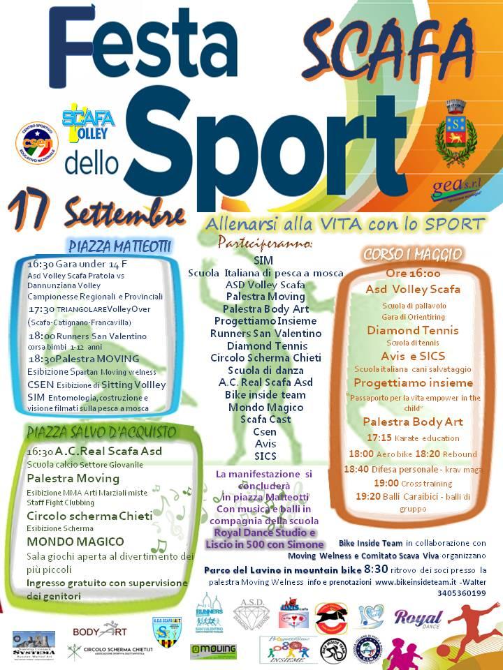 17 settembre 2017 festa dello sport a Scafa