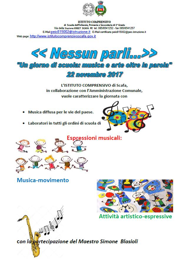 Il 22 novembre giornata dedicata alla musica e all'arte