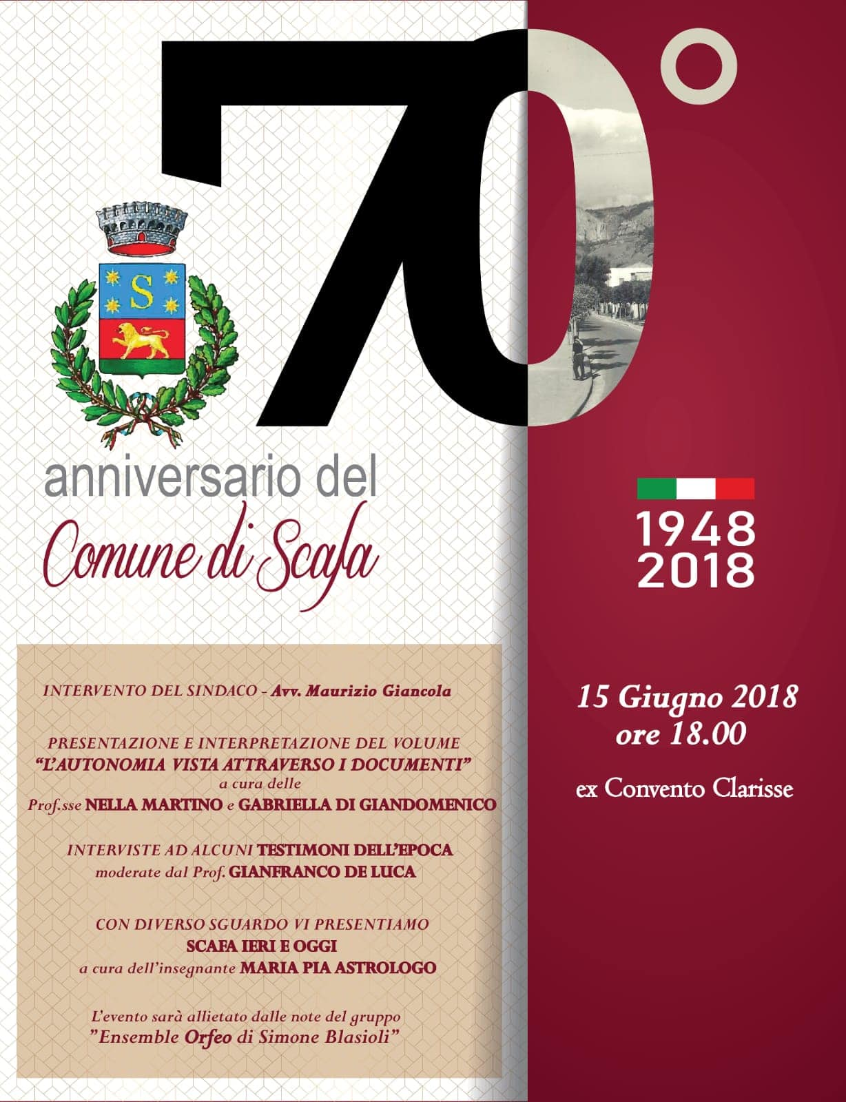 70° anniversario del Comune di Scafa