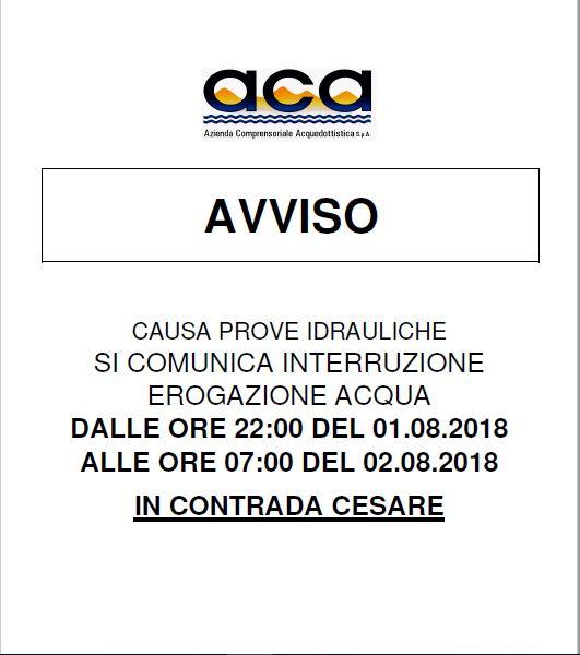 Avviso A.C.A.