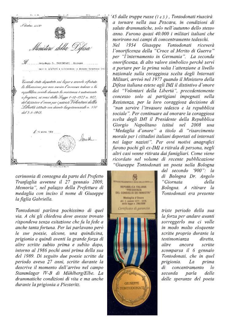 27 gennaio �giorno della Memoria�: la deportazione nei Lager degli Internati Militari Italiani
