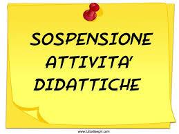 SOSPENSIONE ATTIVIT� DIDATTICHE DELLA SCUOLA DELL�INFANZIA DI CONTRADA DECONTRA